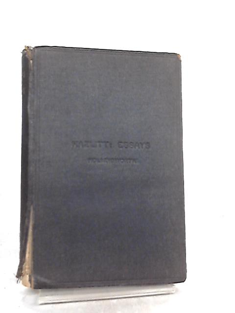 Essays By William Hazlitt by G. E. Hollingworth