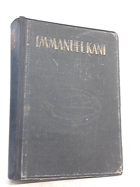 Immanuel Kant die Person Lich Keit als Einfuhrung in Das Werk by Anon