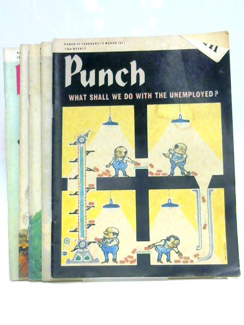 Punch 24 February to 6 April 1971 (5 x Issues) By Anon