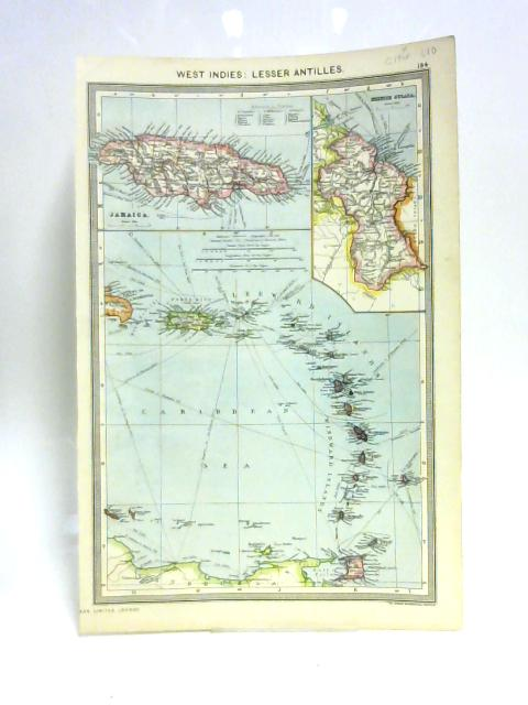 Map of West Indies: Lesser Antilles By Unknown