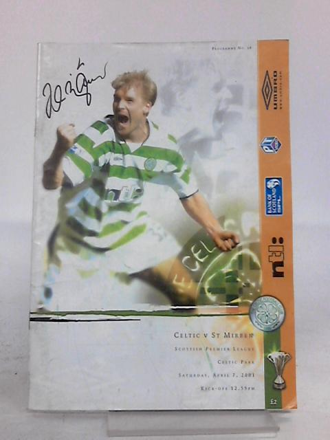 Celtic verses St Mirren Scottish Premier League Programme with autograph (Unkown) By Celtic Football Club