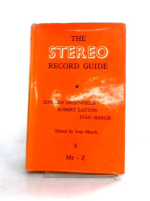 Stereo Record Guide: Vol. VIII by Various