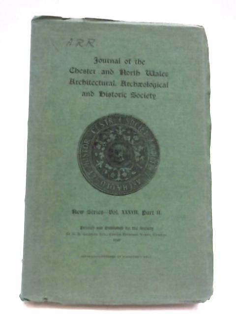 Journal of the chester and North Wales Architectural, Archaeological and Historic Society by Unknown