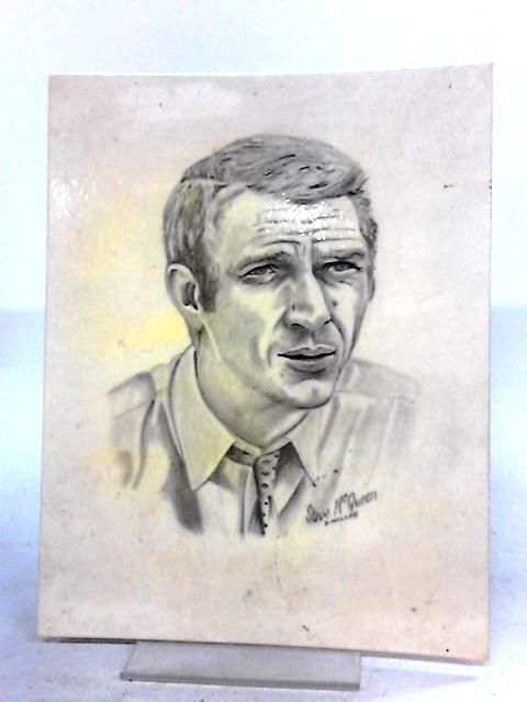 Steve McQueen Pencil Drawing on White Card By D. Waller