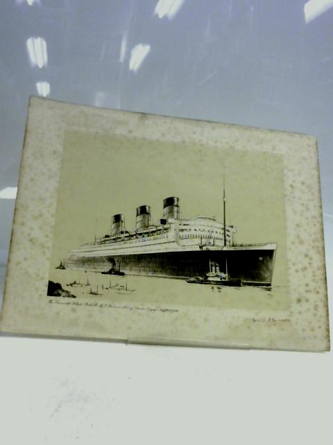 B&W Picture (print) of The Conard White Star R H S Queen Mary Maiden Voyage May 27th 1936 By Frank Mason