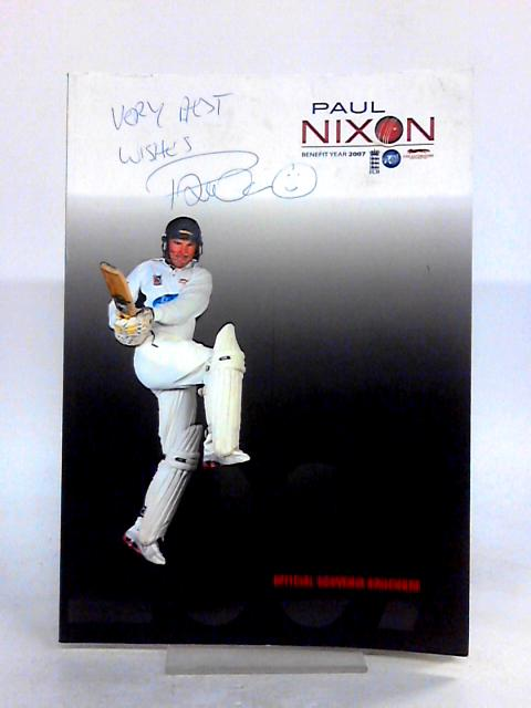 Paul Nixon Benefit Year 2007 Official Tour Brochure By Anon