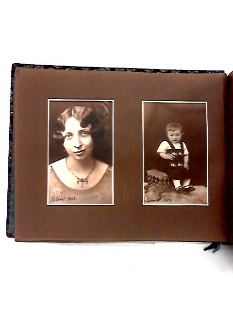 Vintage 1920's Photo Album Containing Black and White Family Pictures By Anon