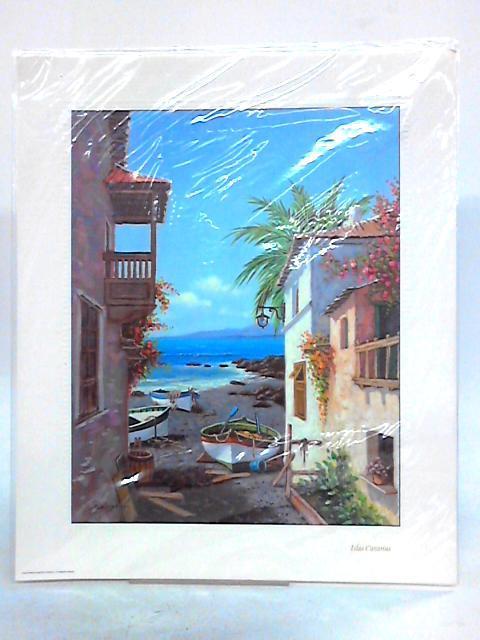 Isla Canarias Scene Colour Art Print By Anon