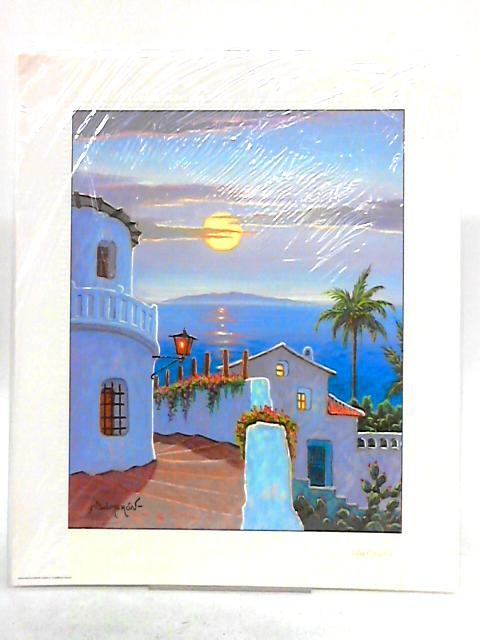 Isla Canarias Scene Colour Art Print By Salmeron
