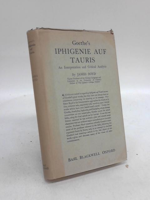 Goethe's Iphigenie Auf Tauris by James Boyd
