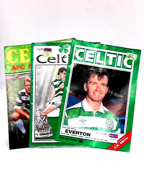 3 Mixed Celtic Programmes: 2 Friendlies and 1 UEFA match 1989- 1991 by Anon