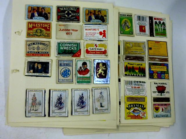 24 Loose pages of Various Match Box Covers and Pictures. By Various