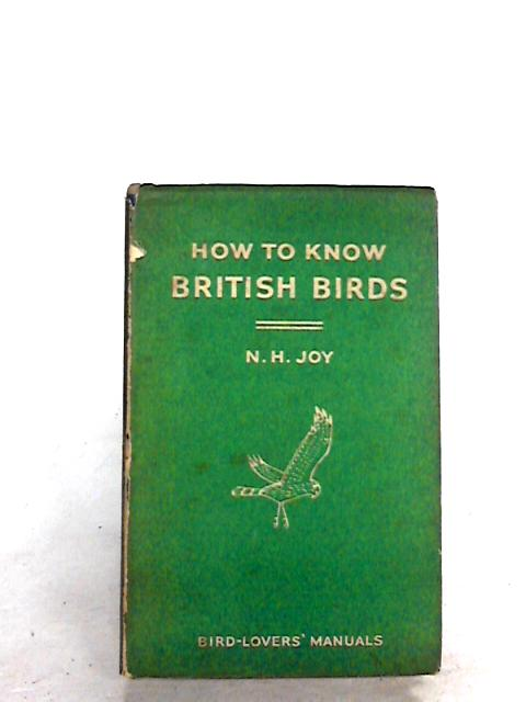 How to Know British Birds by Norman Joy