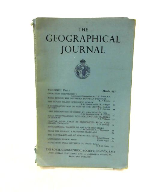 The Geographical Journal volume CXXIII Part 1. By Unknown