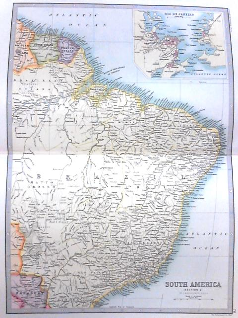 Vintage Colour Atlas Plate: South America Section 2 By Anon
