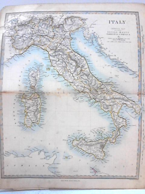Vintage Colour Atlas Plate: Italy By Anon