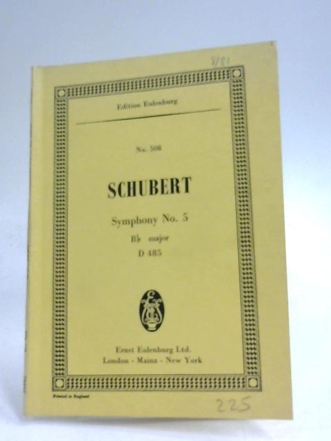 Symphony No. 5, Bb Major, D 485 By Franz Schubert