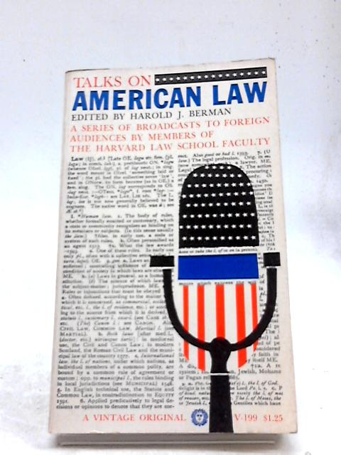 Talks in American Law by Harold J. Berman