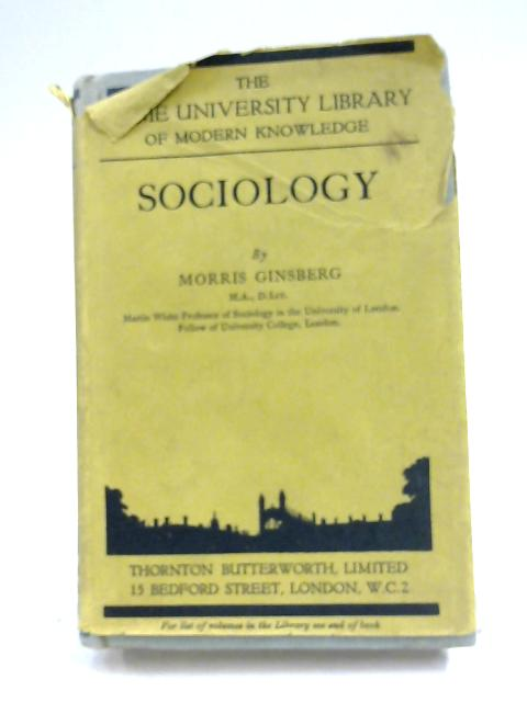 Sociology (Home University Library) by Morris Ginsberg