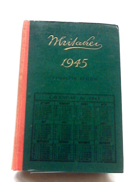 Whitakers Almanack 1945 by Joseph Whitaker