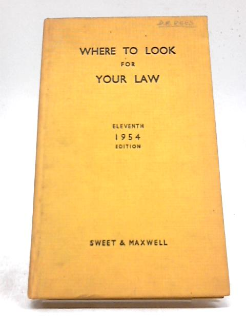 Where To Look For Your Law by Charles William Ringrose