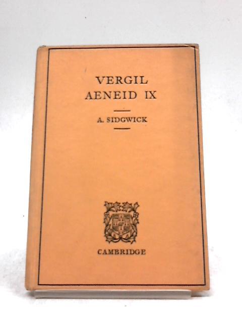 Vergil Aenid IX by Sidgwick