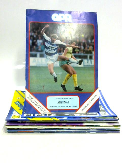 Set of 15 Mixed 1990s Football Programmes By Various