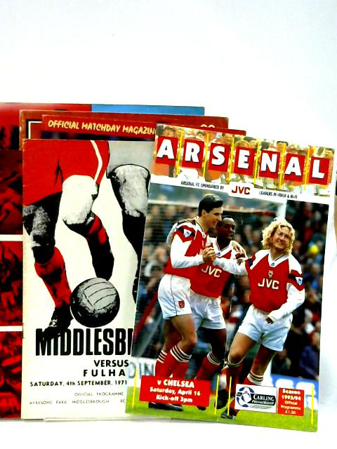6x Official Matchday Magazines of Middlesbrough Football Club and Arsenal vs Chelsea April 16th 1994. By Various