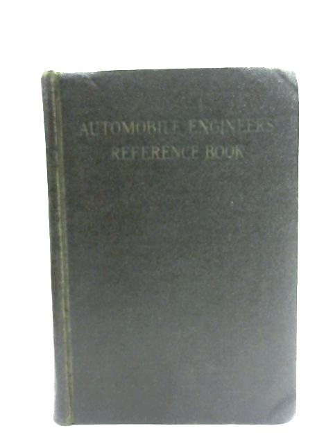 Automobile Engineers Reference Book By E. Molloy & G. H. Lanchester
