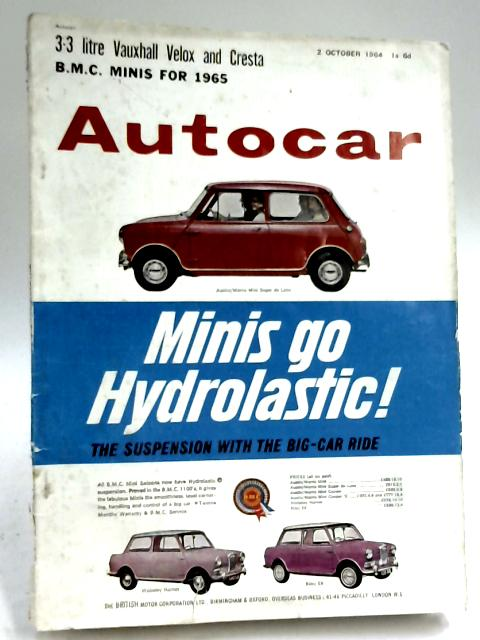 Autocar 2 October 1964, Vol 121 No. 3581 By M. A. Smith