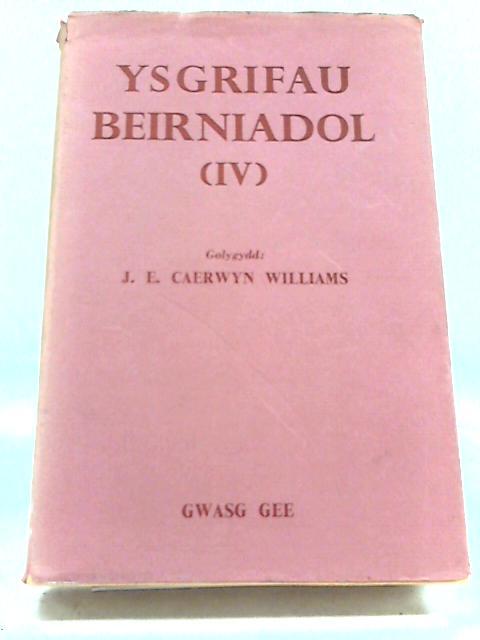 Ysgrifau Beirniadol (Volume 4) by J E C Williams