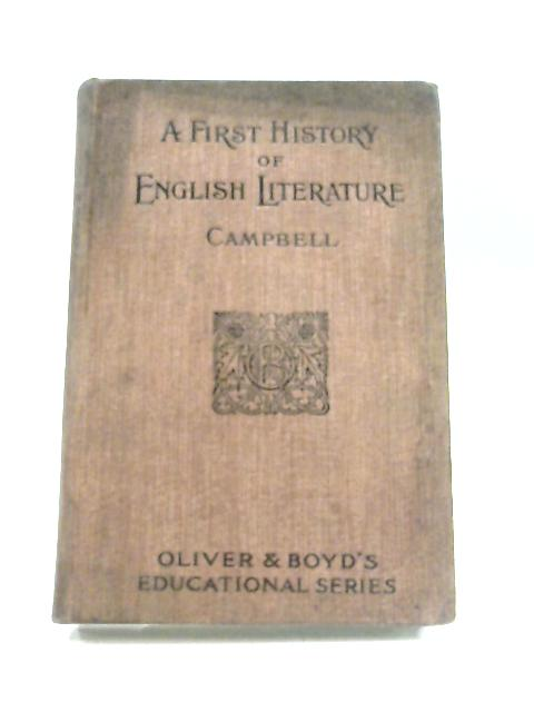 A First History of English Literature By David Campbell