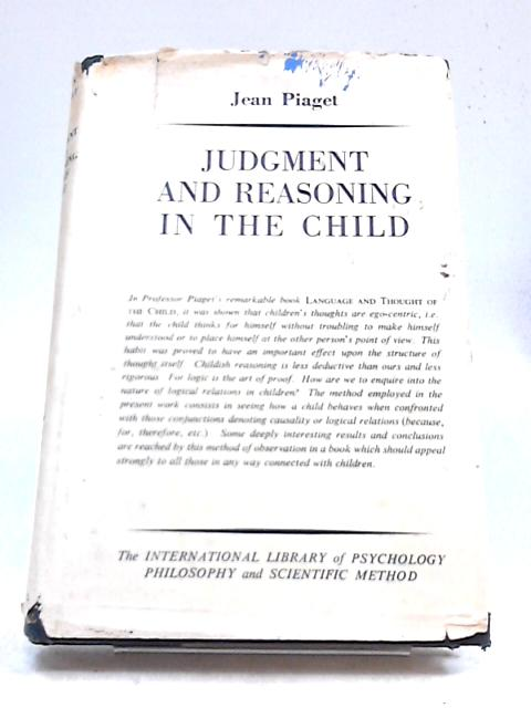 Judgment And Reasoning In The Child By Various