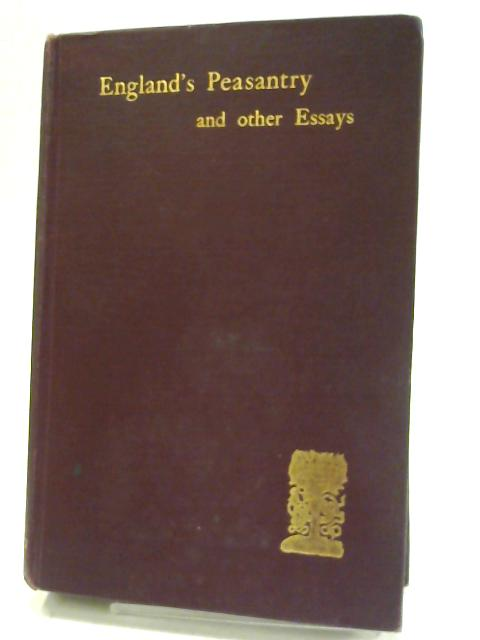England's Peasantry By Jessopp, A