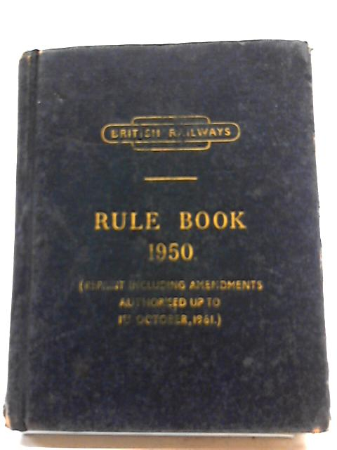 Rule Book 1950 by Unstated
