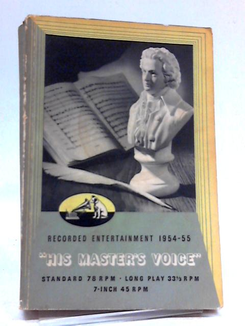 His Master's Voice Recorded Entertainment 1954-55 By HMV