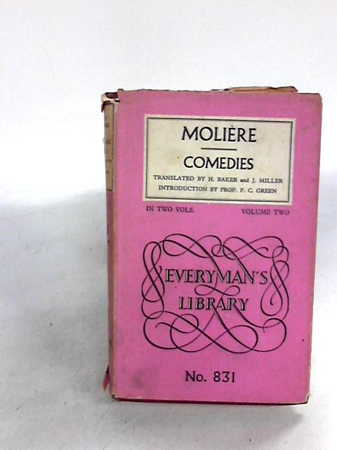 Moliere Comedies in Two Volumes Volume II Only - By Moliere