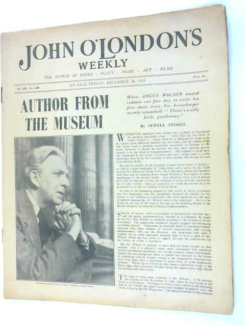 John o Londons weekly volume LXII No.1536 December 18th 1953 By Anon