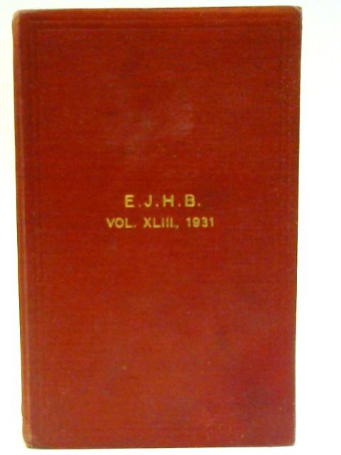 The English Jersey Cattle Society's Herd Book vol. XLIII 1931 by English Jersey Cattle Society