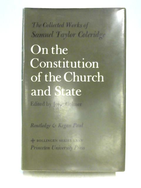 On the Constitution of the Church and State by Ed. by J. Colmer