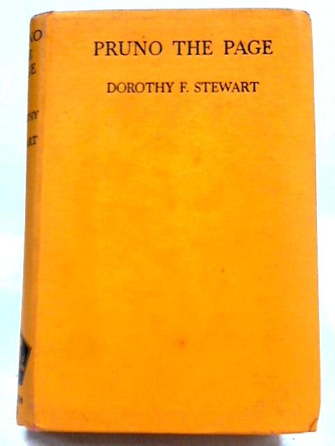 Pruno The Page by Dorothy Stewart