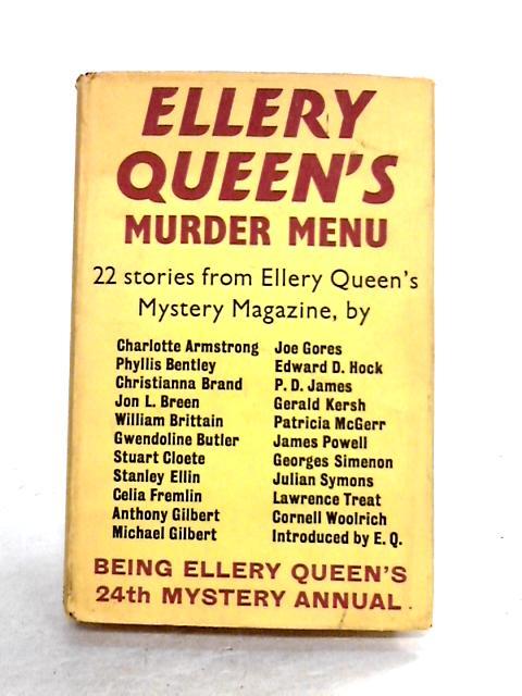 Ellery Queen's Murder Menu: 24th EQMM Annual by Ellery Queen (ed)