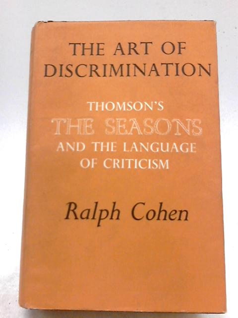 Art of Discrimination by Cohen, Ralph