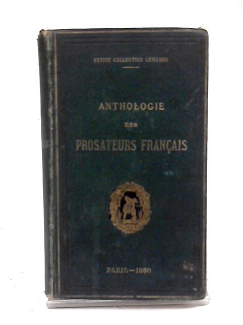 Anthologie des Prosateurs Francais by Alphonse Lemerre