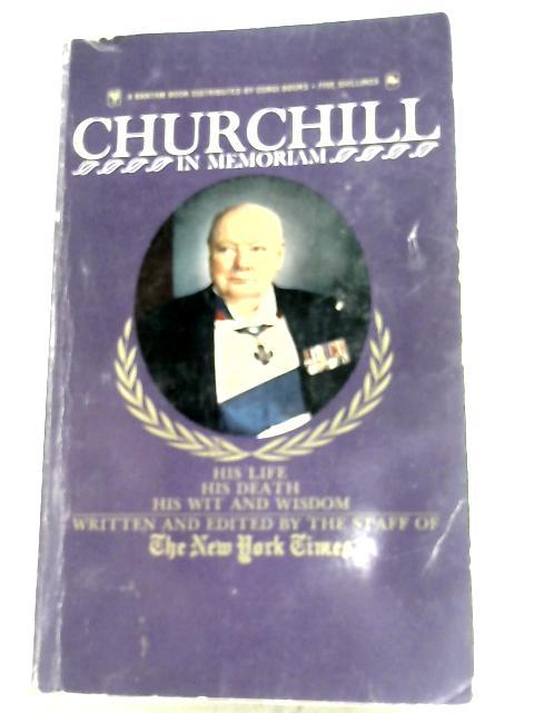 Churchill In Memoriam by New York Times Staff
