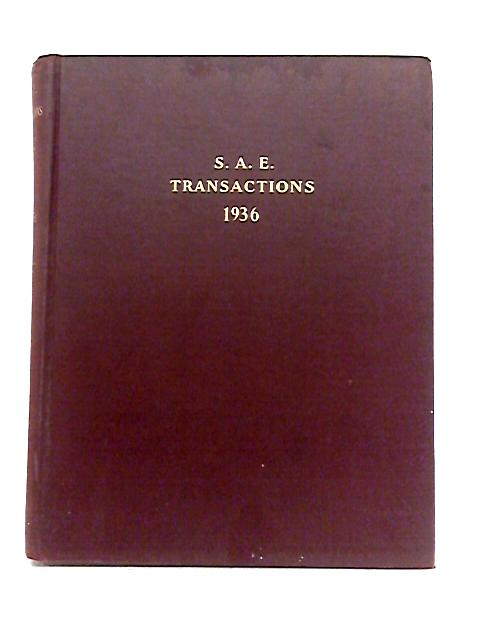 S.A.E Transactions: Volume 31 By Anon