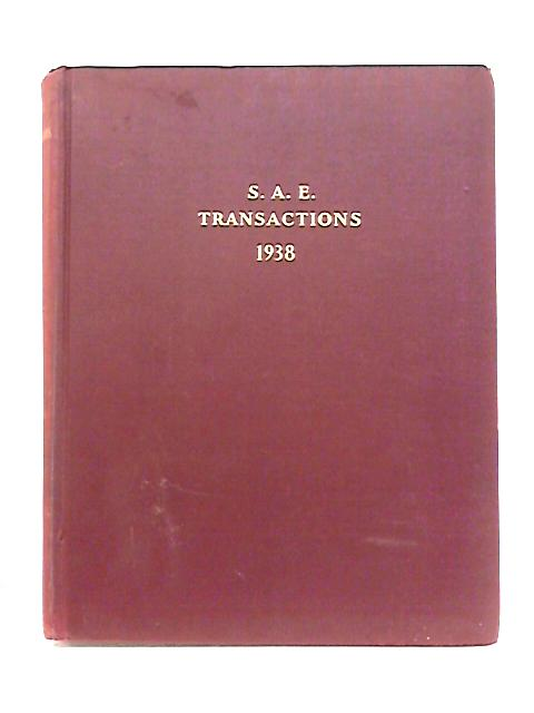 S.A.E Transactions: Volume 33 By Anon