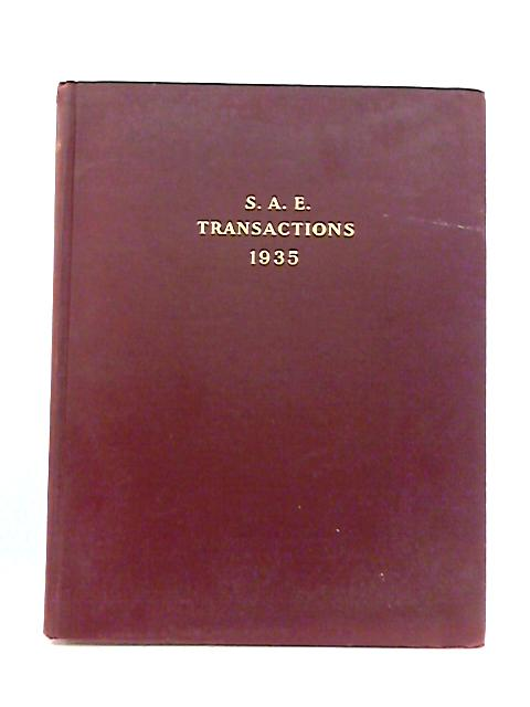 S.A.E Transactions: Volume 30 By Anon