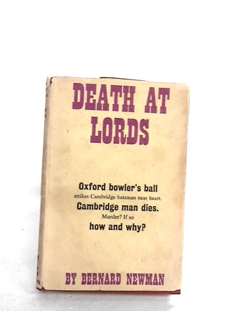 Death At Lords By Newman, Bernard