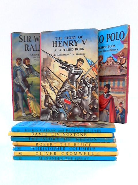 Set of 10 Ladybird 'Adventure From History' Books by L. Du Garde Peach